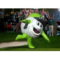 China 8 Feet Inflatable Man Costume Full Printing Green Inflatable Golf Ball Costume wholesale