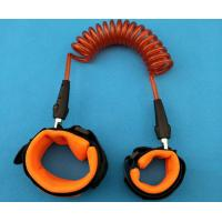 China New Arrival Orange Color Coiled Leash Strong Leg Rope Safety Harnessor for Children Security wholesale
