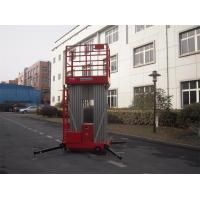 China Dual Mast Hydraulic Aerial Work Platform Manual Push Around 8 Meter Platform Height wholesale