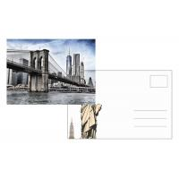 China Custom Lenticular Postcard Printing 3d Depth New York City 4x6 Inch EU Standard wholesale