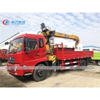 China Dongfeng 190HP Truck Mounted XCMG 8 Tons Straight Boom Crane wholesale