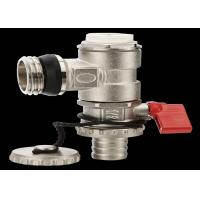"China Low Pressure Brass Handle Ball Valve For Heating Floor , 1/2""-6"" Port Size wholesale"