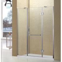 China Aluminum Shower Screen with 10mm Tempered Glass Swing Shower Door 1500 Width wholesale