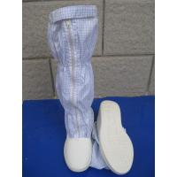 China Convenient ESD Anti Static Clean Room Booties Easy Clean For Electronics Factory wholesale