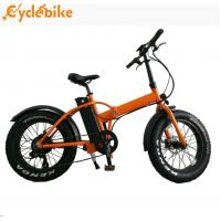 China Hot selling 48v 500w bafang motor 20inch folding mountain fat tire electric bicycle for ebike wholesale