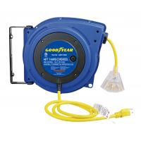 China LED Lighted Connector Goodyear Retractable Air Hose Reel With Double Adjustment Function wholesale