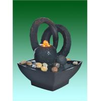 """Home Collection 8.5"""" Small Desk Water Fountain With River Stone"""