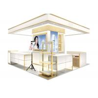 China Easy Install Wooden Cosmetic Display Case With Multi Color LED Lighting wholesale