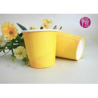 China 2.5oz Promotion Single Wall Paper Cups , Yellow Disposable Paper Cups With Lids wholesale