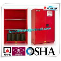 Quality Safety Combustible Storage Cabinets , Flammable Storage Containers Double Doors for sale