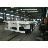 China 60T 3 Axles 28T Legs Heavy Duty Truck Trailer With 12.00R20 Tyres wholesale
