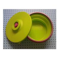 China large silicone lunch box collapsible ,fashionable silicone partable lunch bowl wholesale