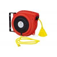 Quality Plastic Housing Electric Spring Driven Cable Reel With Ratch Double Adjustment for sale