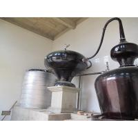 China Double Pots Distiller with 6 Plates Copper Column / Two Pot Style Distillation Equipment for Sale wholesale