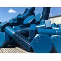 China Carbon Steel Blue Teflon Coated Screw Bolt Hex Head Fastener For Car Resistant Corrosion wholesale