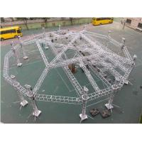 Buy cheap Portable Adjustable Aluminum Box Truss Mobile Stage For Exhibition Easy Installation from wholesalers