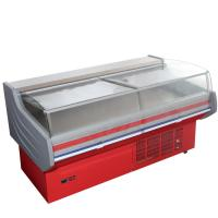 China Store Frost Free Meat Display Refrigerator Counter CE ROHS With Curved Glass wholesale
