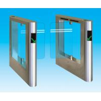 Quality Half Height Security Glass Swing Arm Barriers For Wheelchair Channel for sale