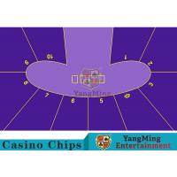 China Anti - Fade Baccarat Table Layout For 10 Players In Casino Gambling Games wholesale