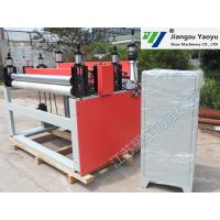 Textile Leather Roll Slitting Machine Four Column Computer Control System