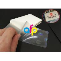 China Hot Lamination Machine Suit Laminating Pouch Film , Glossy Thermal Laminating Pouches wholesale