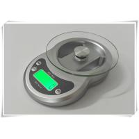 China Timer Function Kitchen Weight Scale , Tempered Glass Platform Portable Food Scale wholesale