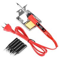 China Green 80W LCD Adjustable Temperature Electric Soldering iron kit on sale