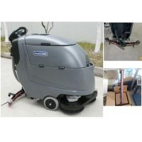 China Wireless Two Brushes Orange Floor Scrubber Dryer Machine 180W Brush Motor wholesale