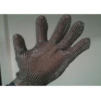 China Stainless Steel Cut Resistant Gloves , Oil Resistance Steel Mesh Cutting Gloves wholesale