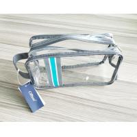 China Luxury Reusable Clear Travel Kit Zipper Pouches Soft PVC Travel Kit Cosmetic Pouch with Hand Loop wholesale