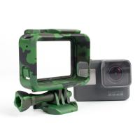 China Camouflage Standard Border Frame Protective Action Camera Housing , GoPro Hero 5 housing for camera wholesale