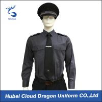 Buy cheap Long Sleeve Security Uniform Shirts / Zip Front Military Style Shirt Size Custom product