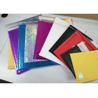 China Multicolor Shiny Shipping Bubble Mailers , Durable Padded Letter Envelopes wholesale