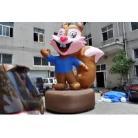 China Advertising Inflatable Cartoon Characters Lovely Inflatable Squirrel For Decoration wholesale