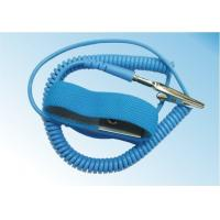 China Safety Comfortable ESD Anti Static Wrist Strap Free Size With Grounding Cord wholesale