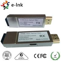 China 10GHz 4K x 2K 30fps Mini Hdmi Over Fiber Optic Extender Converter up to 300m wholesale
