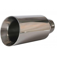 China Universal Inlet 70mm 90mm Stainless Steel Muffler Tips wholesale