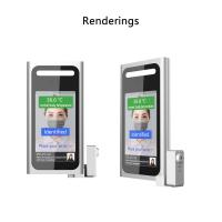 China Wrist Temperature Measuring Access Control with Living Face Recognition Terminal wholesale