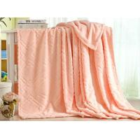 China Cozy King Size Flannel Blanket Throw Blanket For Bed / Sofa Warm Plush Eco Friendly wholesale