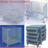 China welded warehouse storage  cage/pallet cage/security cage/wire security cage/storage cage on wheels/metal storage bins wholesale