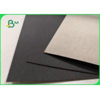 China 1mm 2mm Single Black Coated Cardboard Sheets For Gift Boxes Good Stiffness wholesale