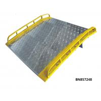 China Extra 72 Inch Wide Aluminum Dock Plate With Full Length Orange Painted Steel Curbs wholesale