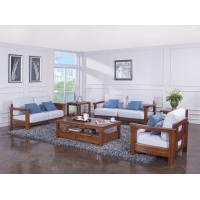 China High end quality 1+2+3 Solid wood Leisure sofa set by Fabric and density sponge upholstered seat cushion on sale