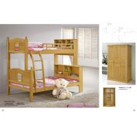 China Modern beech Wooden children Bunk bed,double bunk bed,double decker bed home furniture wholesale