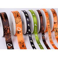 China White Custom Printed Ribbon Eco Friendly Soft Thin Attractive Look Polyester wholesale