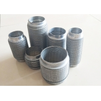 """China 2"""" Id X 8"""" Long Universal Exhaust Flex Pipe With Interlock Liner / Wire Mesh wholesale"""