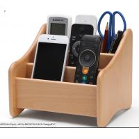 Quality Decorative Wood  Desk Organizer For Home Remote Controls / Phone for sale