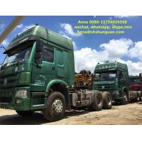 China Euro 3 Used Tractor Head , 6x4 Tractor Head 13000 Kg Vehicle Weight wholesale