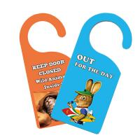 Quality Door Hanger 3D PET Lenticular Card Printing For Hotel / Home Caution for sale