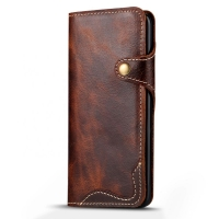 China Classic Genunine Leather OEM ISO9001 Wallet Phone Case wholesale